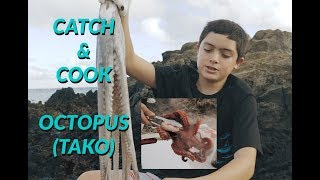 CATCH and COOK OCTOPUS-Learn How to Make TAKO Poke
