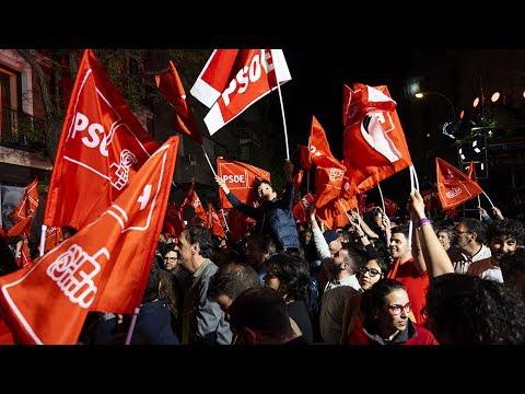 Spain's Socialist Worker's Party get 123 seats, but no majority
