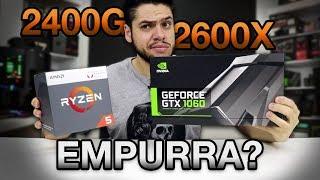 Ryzen 5 2400G vs 2600X: Testes em games com GTX 1060 e RAM 2400 MHz e 3000 MHz. Será que empurra?