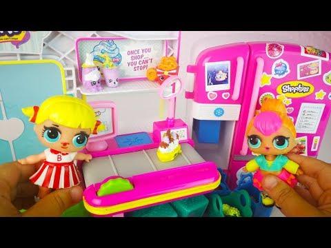#Куклы #ЛОЛ #LOL в Магазине Шопкинс Играют со Слайм Игрушки Для девочек