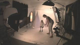 Children fashion photography behind the scene