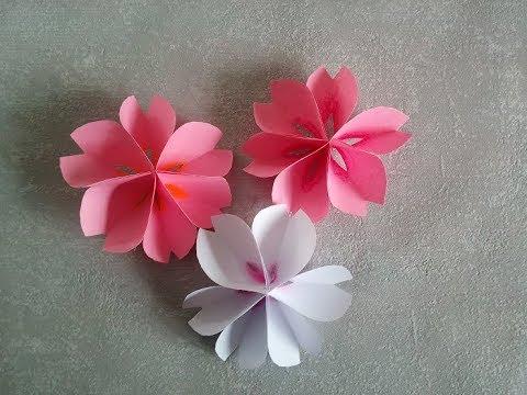Diy Sakura Blumen Aus Papier Papierblumen Selber Basteln Für Die Frühlingsdeko