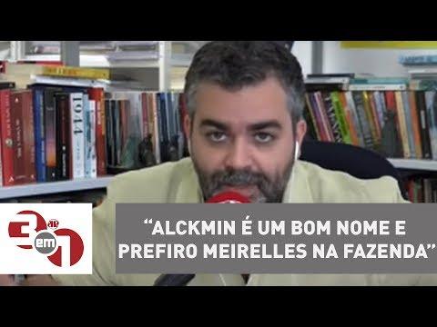 Temer Ao Estadão: Alckmin é Um Bom Nome E Prefiro Meirelles Na Fazenda