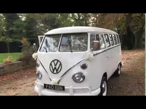 VW White Split Screen Campervan Wedding Bus
