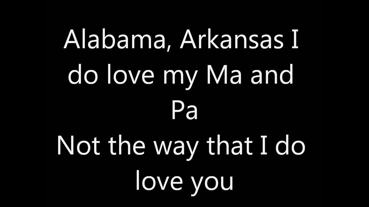 Alabama Arkansas I Sure Miss My Ma And Pa Lyrics magnetic zeros home karaoke