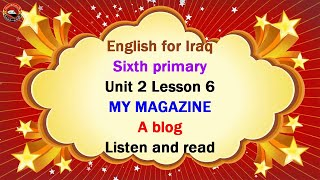 English for Iraq 6th primary u…