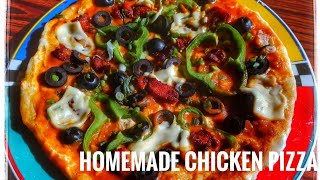 Download Homemade pizza| Chicken pizza|No oven| Easy pizza recipe| Soufy's Kitchen