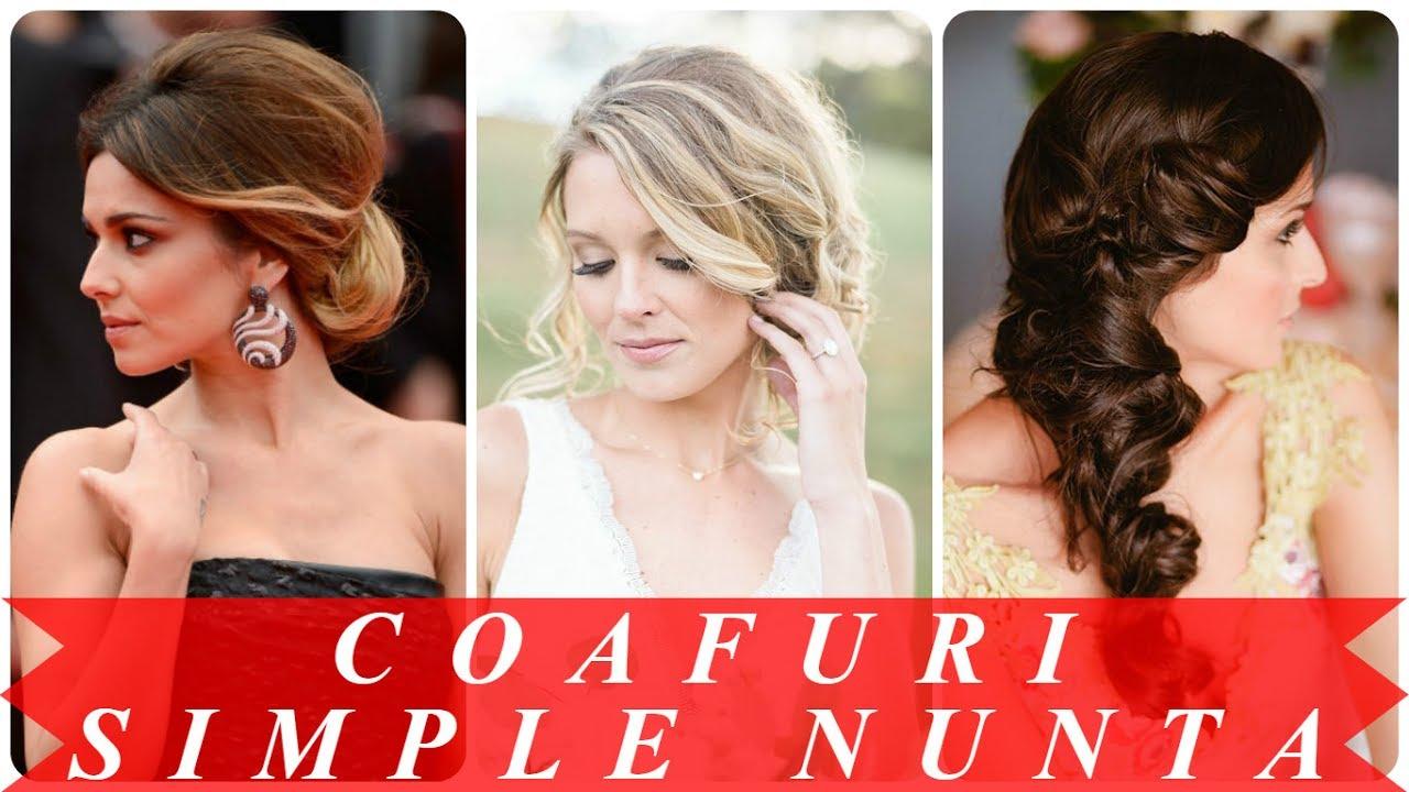 Modele De Coafuri Simple Pentru Nunta Youtube