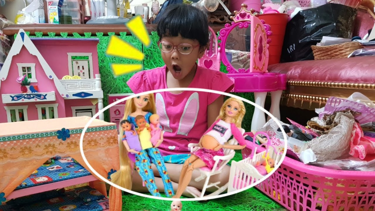 Gawat Barbie Hamil Melahirkan Anak Nya Kembar 2 Main Dokter Dokteran Shafeea Hanum Youtube