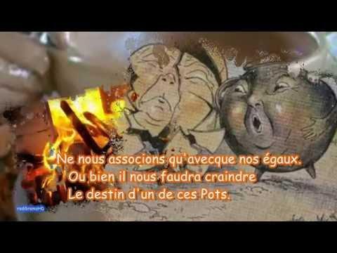 Le Pot de terre et le Pot de fer, fable, Jean de la fontaine, paroles