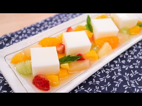 Almond Jelly Cubes & Fruit Salad (Almond Float) Recipe | Thai Recipes เต้าฮวยฟรุตสลัด