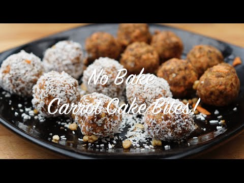 Healthy No Bake Carrot Cake Bites | Featuring Si from The Diet Kitchen