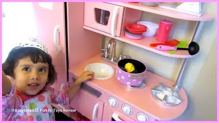 Play Pretend Toy Kitchen With Velcro Cutting Foods! Itsplaytime612
