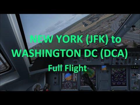 Majestic Dash 8 Q400 - New York (JFK) to Washington DC (DCA) Full Flight