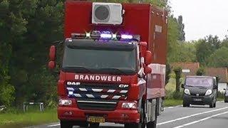 11/06/13 Primeur Brandweer MC90-1 naar zeer grote brand GRIP 1 Brielle