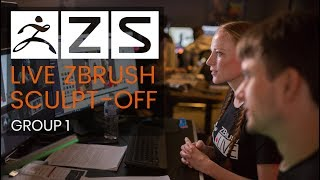 The ZBrush Summit - Live Sculpt-Off - Group 1