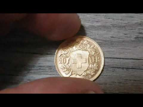 20 francs or gold Helvetia 1947 B Suisse