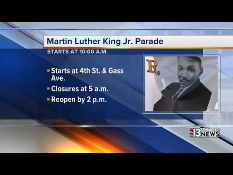 Road closures in place for the Martin Luther King, Jr. Parade in Downtown Las Vegas