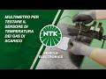 Multimetro per testare il sensore di temperatura dei gas di scarico