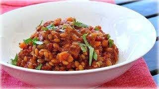 Tomato Lentils - Spicy Vegetarian Chili Lentils Recipe