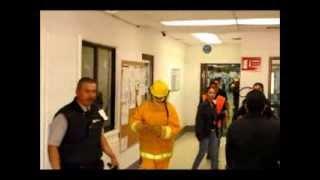 Simulacro de Incendio  en la Empresa DAWS planta Nombre de Dios