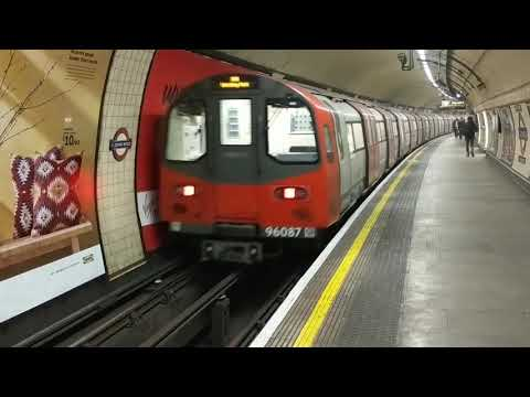 St Johns Wood Station, Jubilee Line.  London Transport, underground tube trains going north