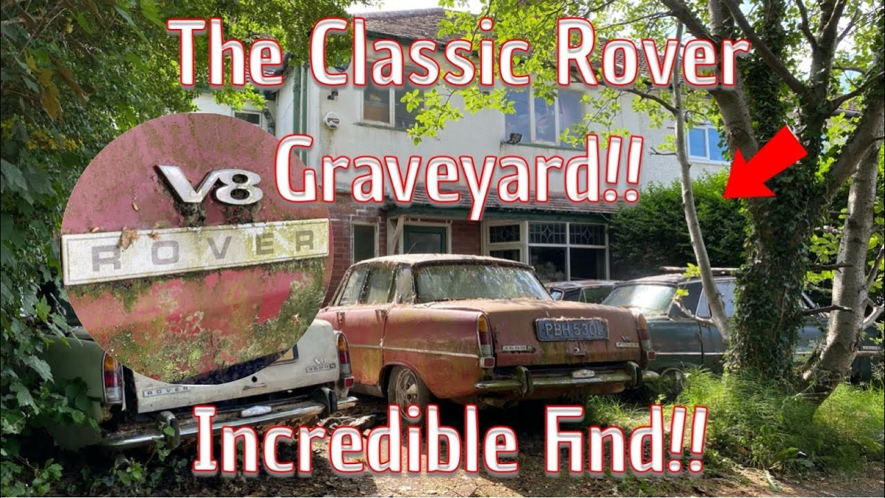 We Explore A Graveyard Full Of Classic Rover P6's And More!!