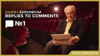 Practice, Tempo & Bach - Daniel Barenboim | Replies To Comments No.1 [subtitulado]