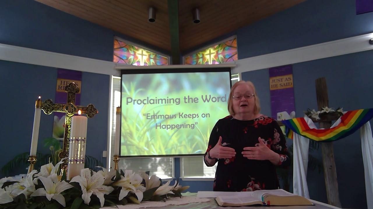 "April 26, 2020 ~ Rev. Julia Price ~ ""Emmous Keeps Happening"""