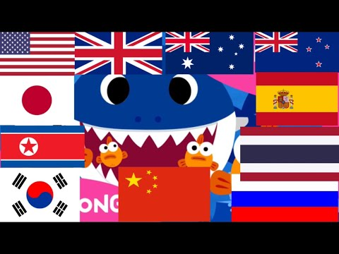 Baby Shark In 7 Languages.