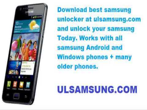 Free how to unlock samsung e1120