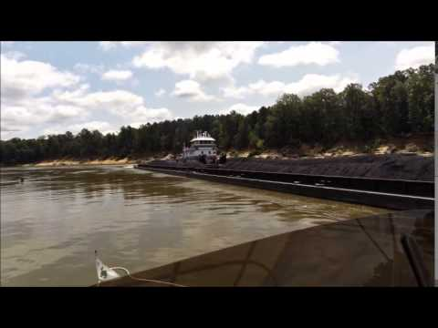 Coal Barges On The Tombigbee Waterway