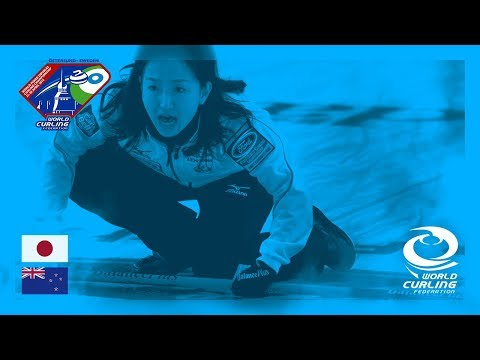 Japan v New Zealand - Round-robin - World Mixed Doubles Curling Championship 2018
