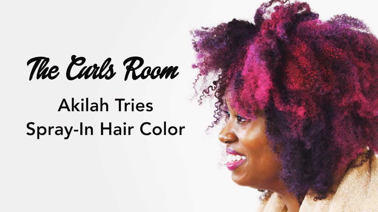 Pink And Purple Afro W Temporary Spray In Color The Curls Room