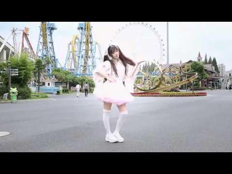 Cosplay girl dancing across Shanghai