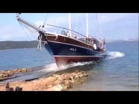 Op de scheepswerf in Bodrum Turkije: de mooie SWS gulet Sila is weer te water!