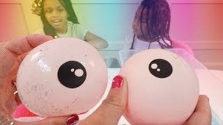 Making Slime With Funny Balloons -  Popping Mini Bags