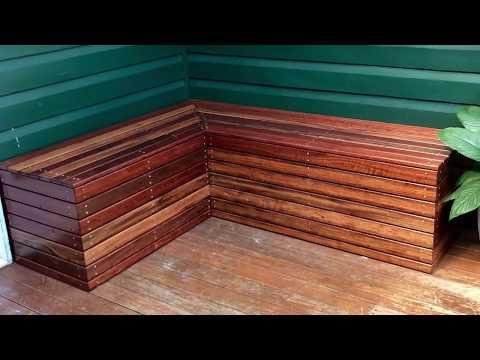 DIY Bench Seat Build - Recycled Hardwood Slats