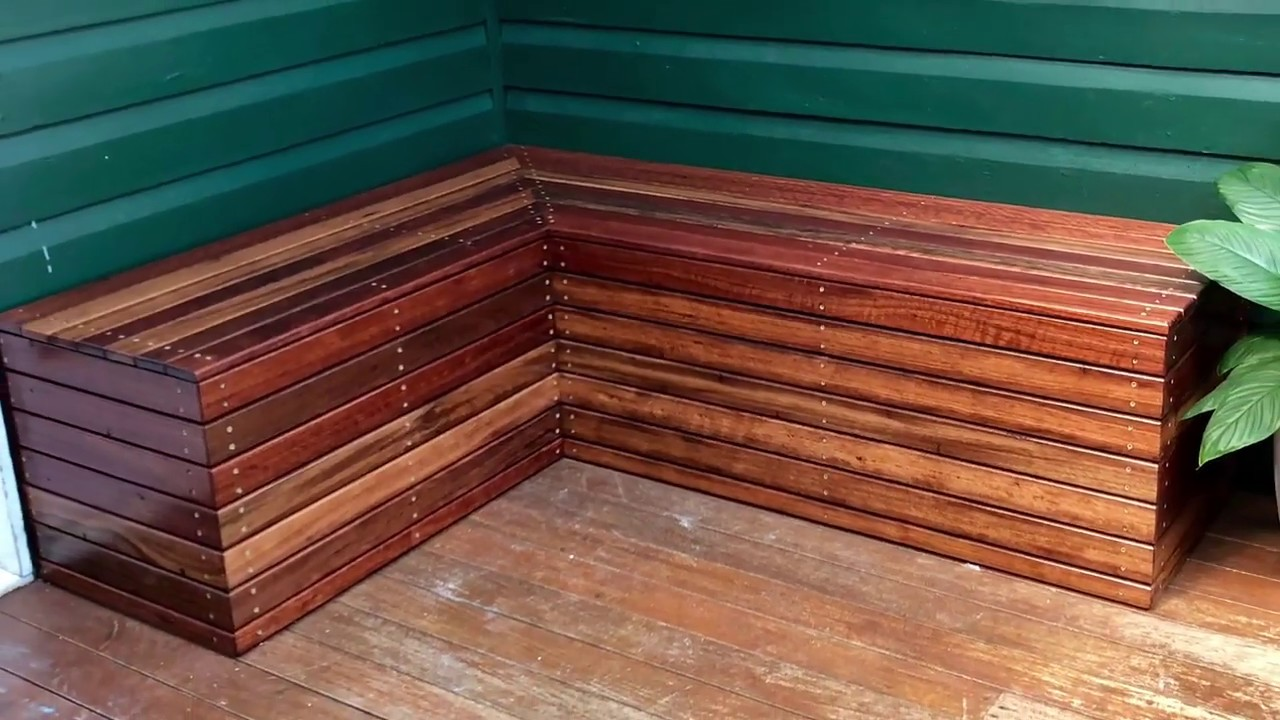 DIY Bench Seat Build - Recycled Hardwood Slats - YouTube