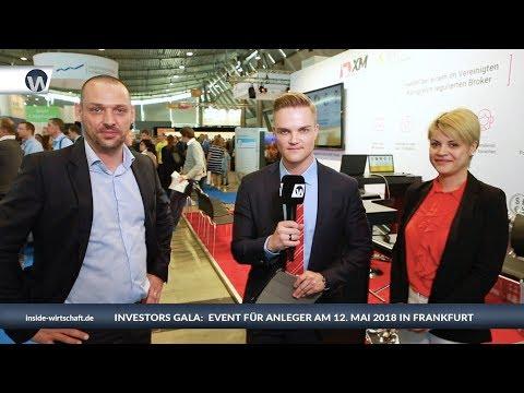 Investors Gala: Event für Profi-Anleger und Neulinge am 12. Mai 2018 in Frankfurt