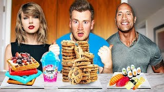 EATING CELEBRITIES FAVOURITE FOODS FOR *24 HOURS*