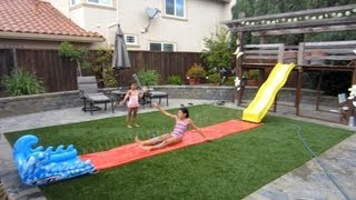 Backyard/playground Slide Onto Slip N' Slide