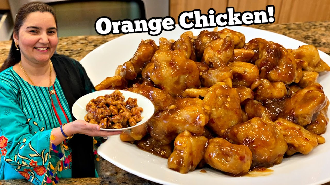 Orange Chicken Recipe Urdu Hindi Youtube
