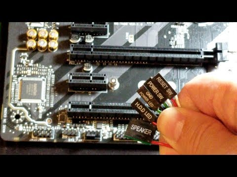 how to connect front panel connectors to your motherboard - youtube  youtube