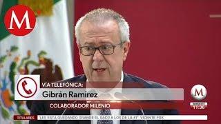 Gibrán Ramírez habla sobre renuncia de Carlos Urzúa
