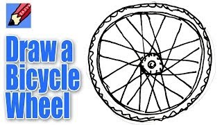 How to draw a Bicycle Wheel Real Easy - Spoken Tutorial