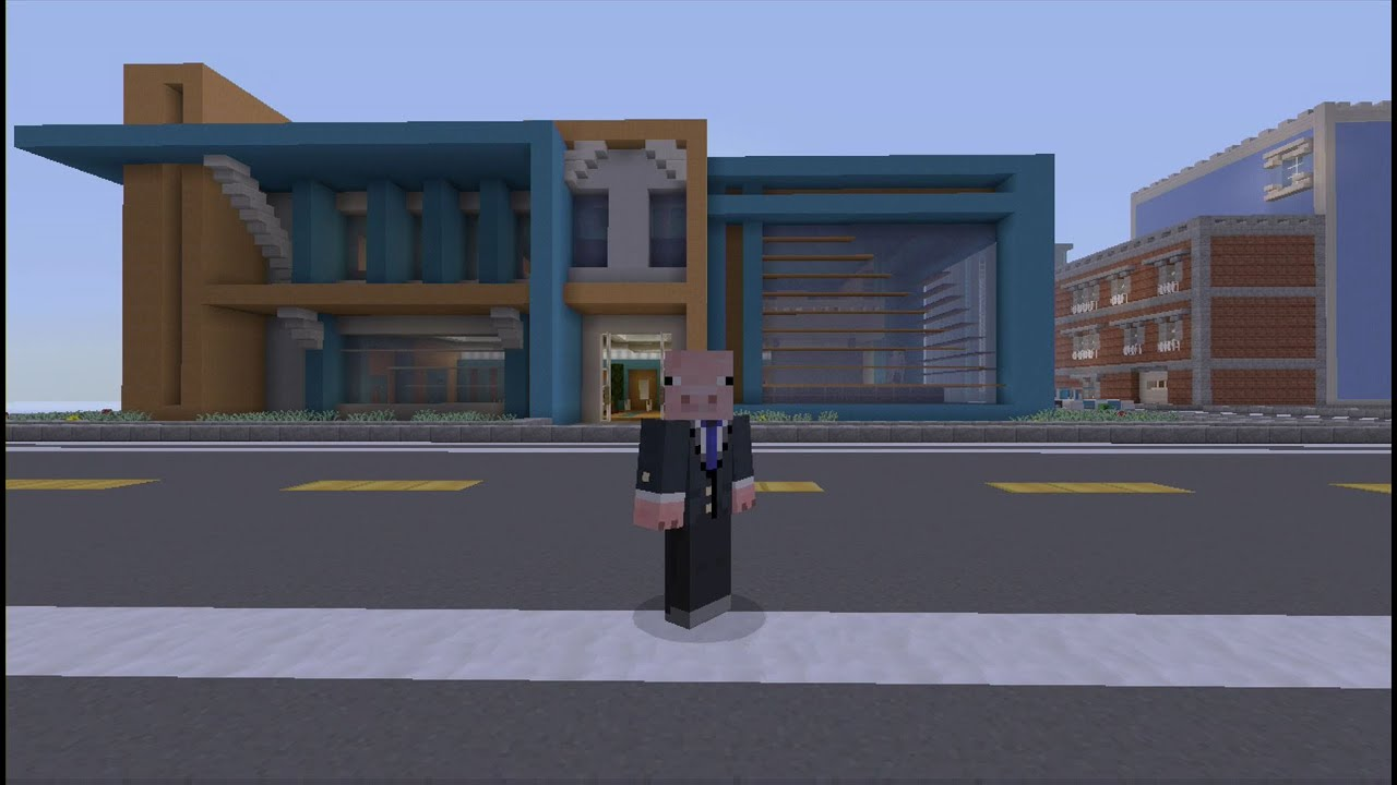 Moderne Bank Minecraft Inspiration Modern Bank Youtube