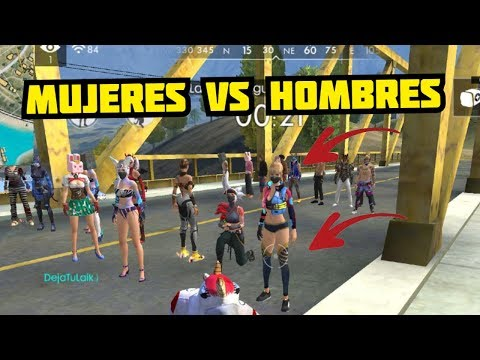 MUJERES VS HOMBRES EN FREE FIRE! TORNEO DE BOXEO (PUÑOS) POR 10K DE DIAMANTES | FLORTA GAMES