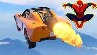 Şimşek ve Örümcek Roket Arabayı Test Ediyor (GTA 5 Gerçek Hayat)
