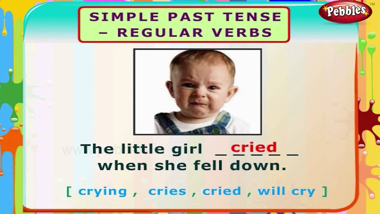 Simple Past Tense Regular Verbs English Grammar Exercises For Kids